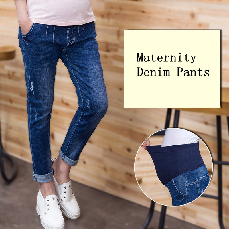 Maternity Jeans For Pregnant Woman Pregnancy Harem Pants Pregnancy Clothes Plus Size L-4XL Loose Denim Trousers