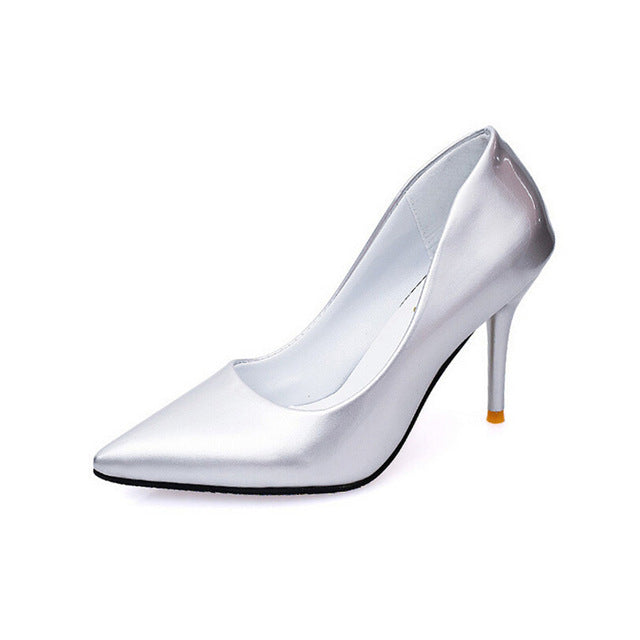 Spring Fashion High Shoes Women Fine With Pointed OL  High Heels Pumps