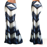 Fashion Casual Print Empire Women Long Gypsy High Waist Maxi Skirts Stretch Full Length Skirt Oversize - Style Lavish