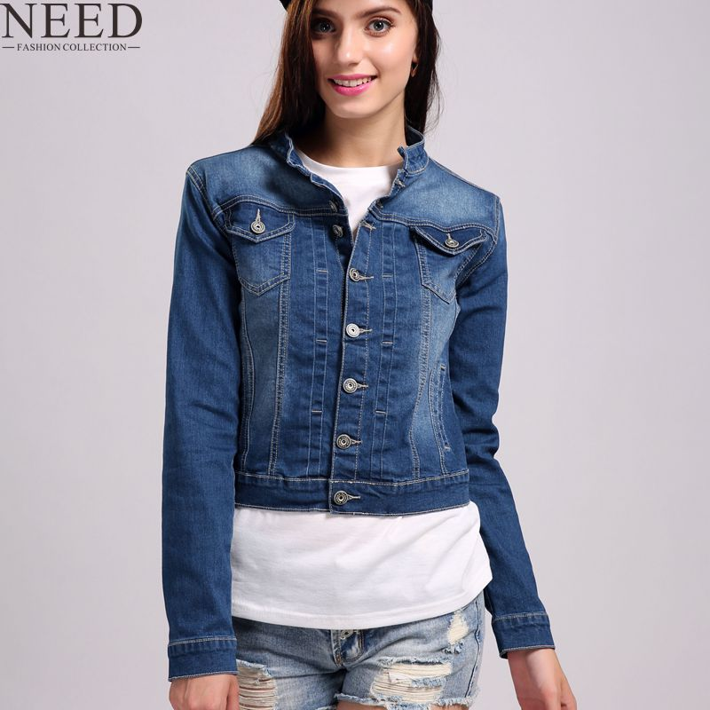 Women Basic Coat Denim Jacket For Women Jeans Jacket Denim Coat