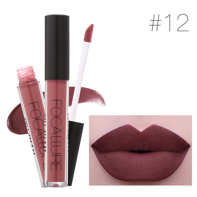 Brand Makeup Waterproof batom Tint Lip Gloss Red Velvet True Brown Nude Matte Lipstick - Style Lavish