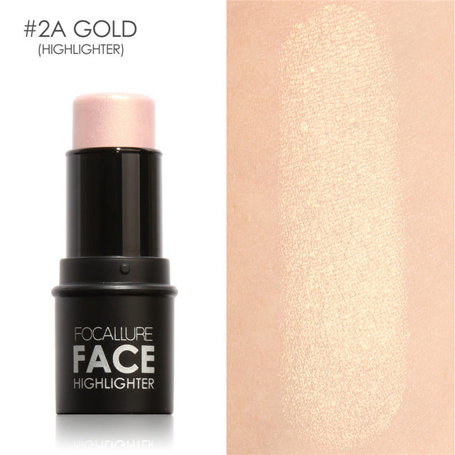 4colors Face Makeup Highlighter Stick Shimmer Highlighting Powder Creamy Texture Silver Shimmer Light - Style Lavish