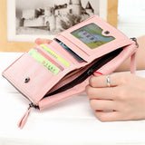 Bifold Zipper Women Wallets Small Purse Coin Pouch Clutch Wallet Money Coin Bag - Style Lavish