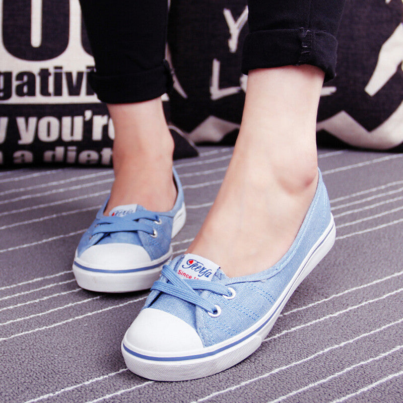 Spring Summer Women Fashion Shallow Mouth Trend A Pedal Flat Shoes casual Lazy shoes