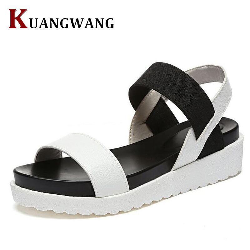 Summer Sandals Women Shoes Peep-toe Flat Shoes Sandals