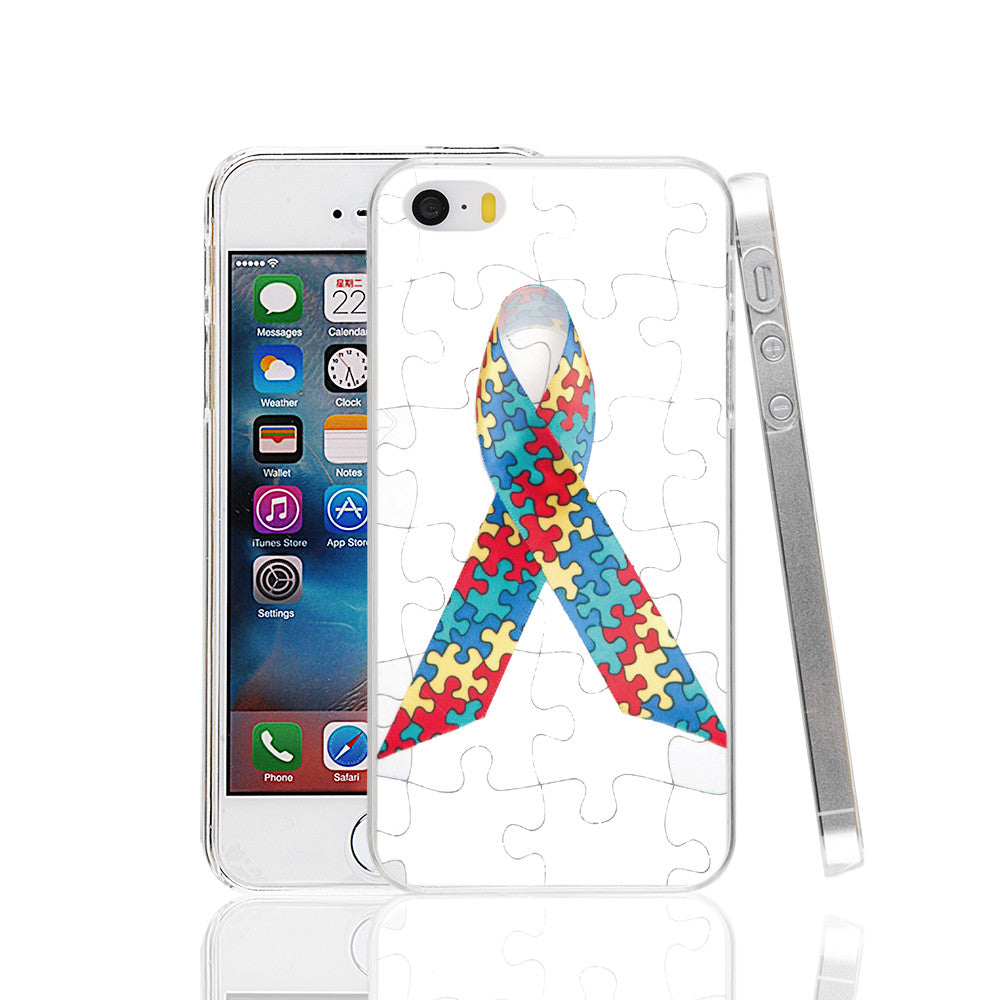 Autism Awareness Cover Case for iphone 4 4s 5 5s SE 5c 6 6s 7 Plus Samsung Galaxy S3 S4 S5 S6 S7 Mini EDGE Note 3 - Style Lavish