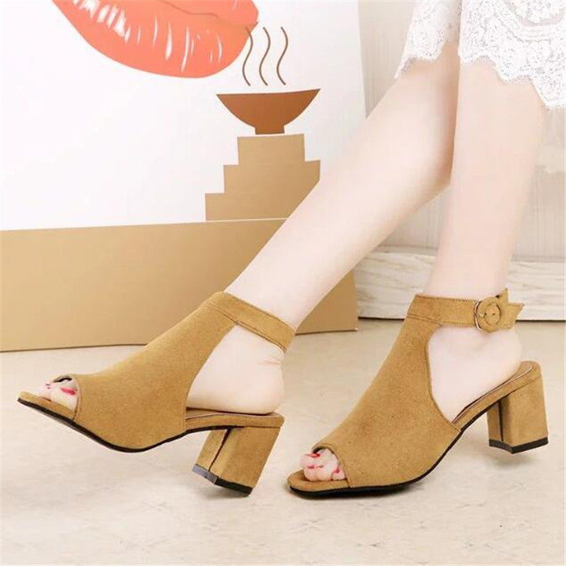 Women shoes  OL high-heeled gladiator sandals
