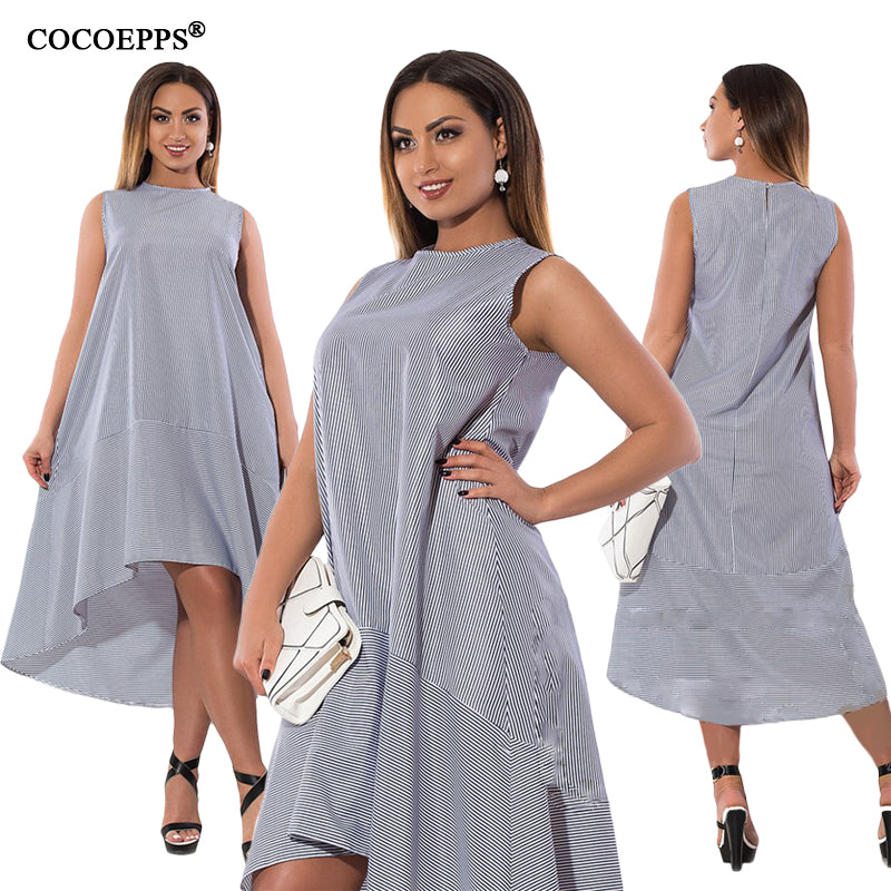 Fashionable Summer Straped Women Dress Elegant Long Dresses Casual Loose Sleeveless - Style Lavish