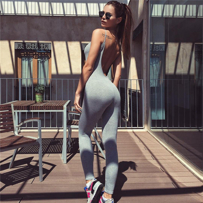 Women Casual Jumpsuit Sexy Bodycon Wear Backless Summer  Jumpsuit  Clothes