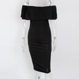 Women Casual Maxi Dress Summer Fashion Off Shoulder Bodycon Sexy Pencil  Dresses