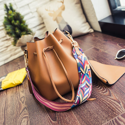 Fashion Bucket Bag With Colors Shoulder strap A Small Bag Women Crossbody Bags Handbags - Style Lavish