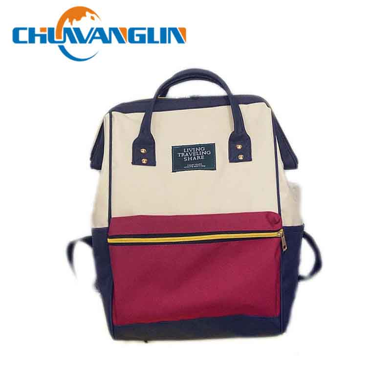 Canvas Printing Backpack Women School Bag Vintage Laptop Backpacks hand bag - Style Lavish