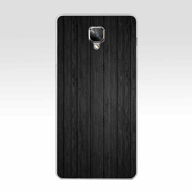 384GH Wooden pattern  Hard Transparent Cover Case for Oneplus 3 3T 5