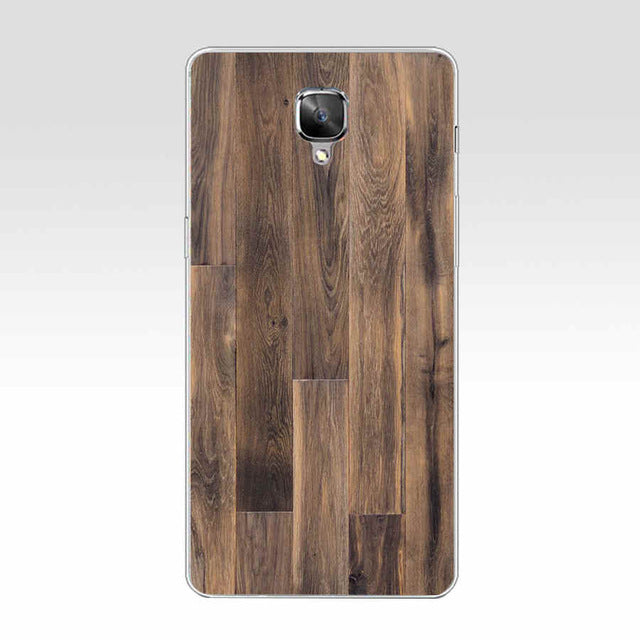 384GH Wooden pattern  Hard Transparent Cover Case for Oneplus 3 3T 5 - Style Lavish