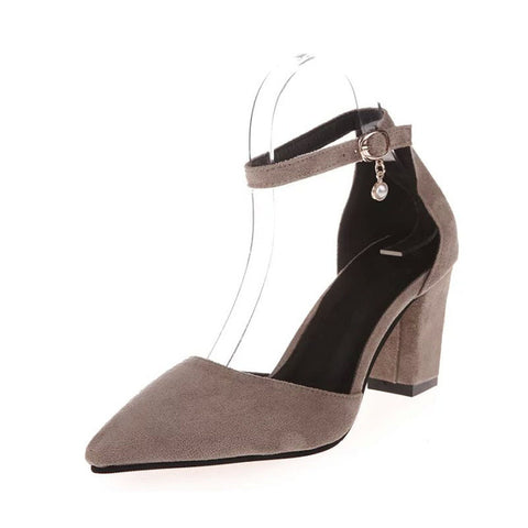 Thick Heel Pumps Comfortable Shoes
