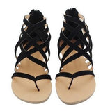 Flats Summer Women's Sandals Fashion Casual Shoes European Rome Style