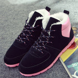 Woman boots Outdoor Winter Snow boots velvet casual Flat shoes