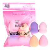 4 Color Mini Drop Gourd Makeup Sponge Puff Set Foundation Base Powder Liquid Cream Blending Face Nose Cosmetic Sponges Mixed Kit - Style Lavish