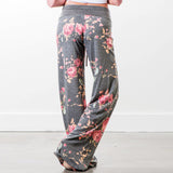 Women Floral Prints Drawstring Wide Leg Pants Leggings harem pants