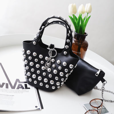 Women Leather Hanbags Rivet Stud Crossbody Bags Women Messenger Bags Purses Handbags Shoulder Bag