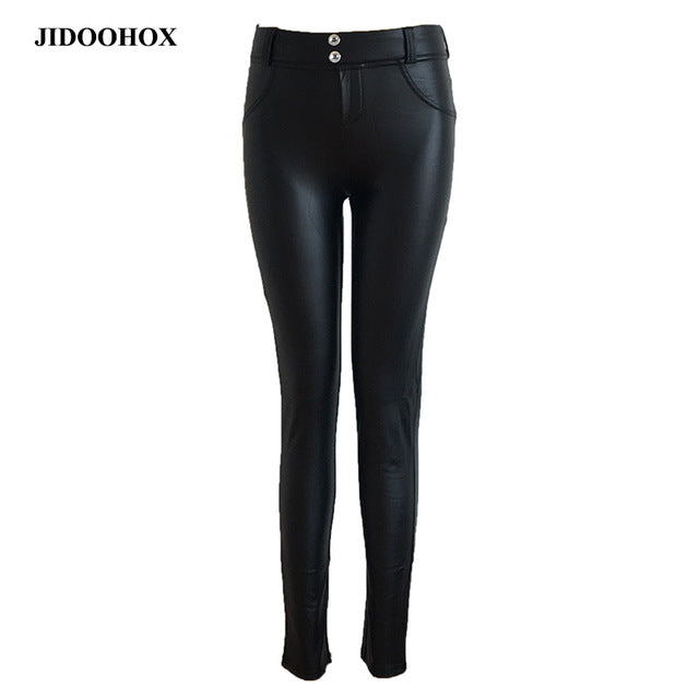 PU Leather Women Leggings gothic High significantly thin elastic pants Pencil fitness