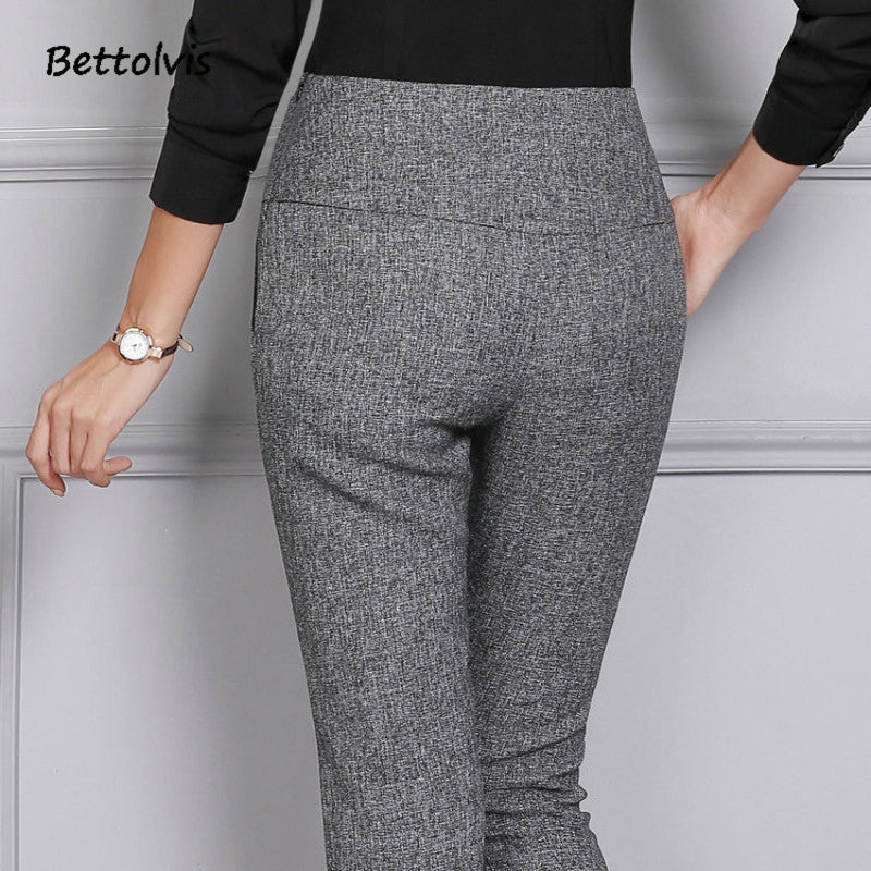 Women Pencil Pants Straight Flares Slim OL Formal Brand Trousers Pants