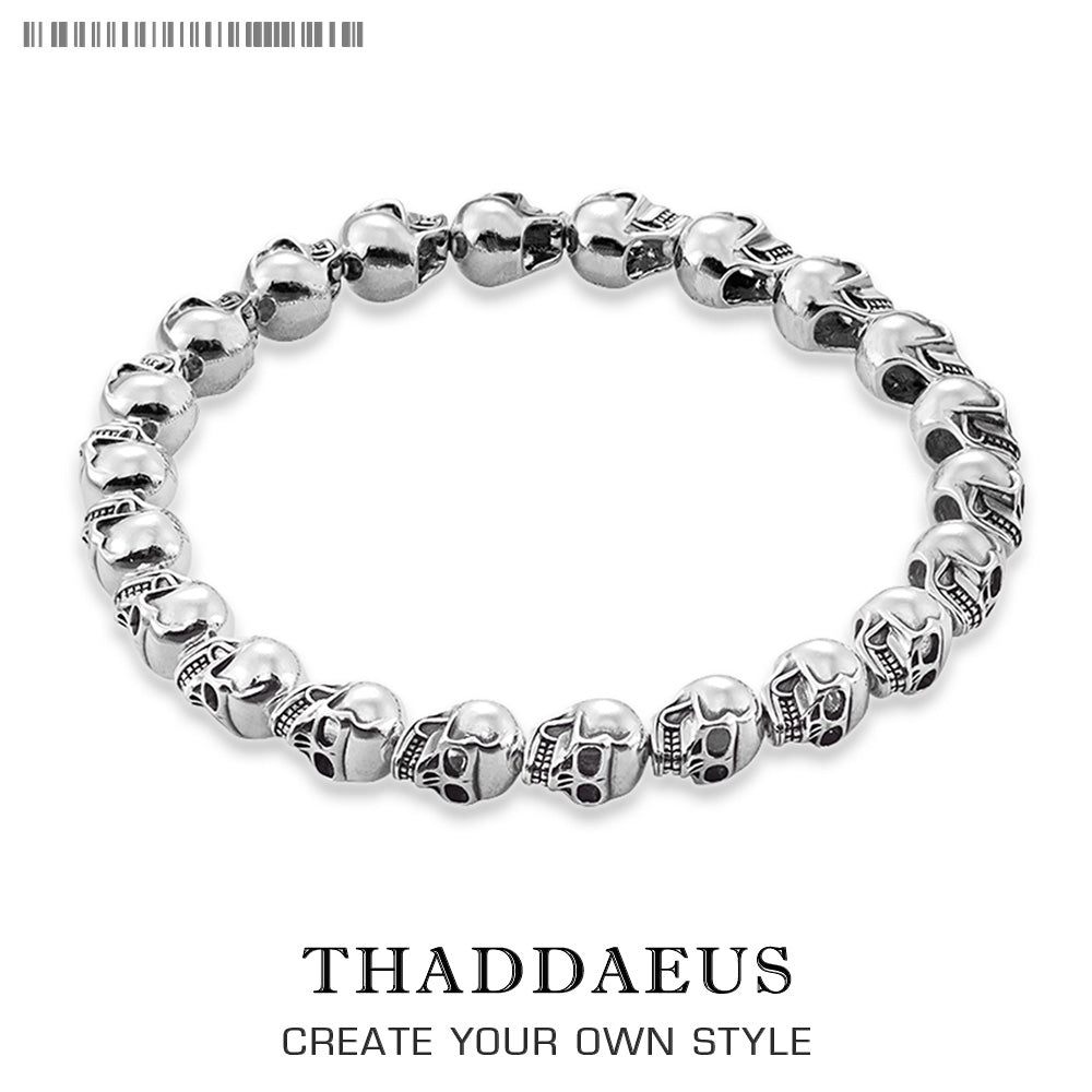 Skull Bracelet,Thomas Style,DIY Jewelry Accessories, Good Jewerly For Men And Women,2017 Ts Gift In Silver,Super Deals