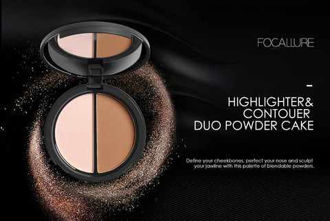 Makeup Blush Bronzer Highlighter 2 Diff Color Concealer Bronzer Palette Comestic Make Up by Focallure
