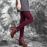 Fashion Casual Warm Faux Velvet Winter Women Leggings Knitted Thick Slim Super Elastic Pants - Style Lavish