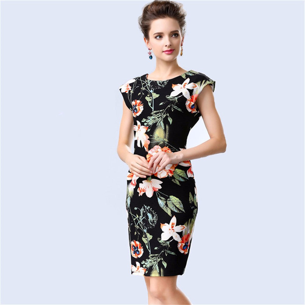 Women Casual Summer Dress Vintage Bodycon Party Fashion Woman Clothing American Apparel