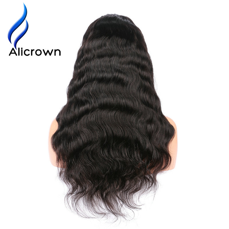 Alicrown Body Wave Lace Front Human Hair Wigs For Women Pre Plucked Brazilian Remy Hair Wigs Bleached Knots Baby Hair - Style Lavish