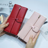 Card Holder Wallet Clutches Casual Quality PU Leather Hasp Women Portfolio Money Cash Bags Purse - Style Lavish