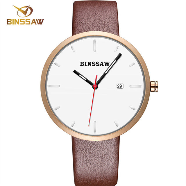 Women  Leather Casual Fashion Quartz Watch