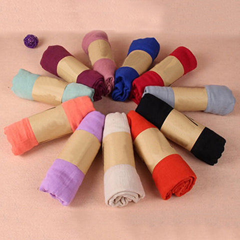 Women Long Candy Color Soft Scarf Wrap Shawl Stole