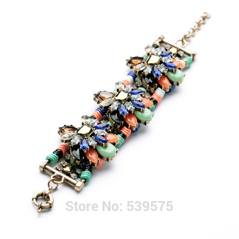 Fashion Wide Resin Bracelet Trendy Women Jewelry Bracelet - Style Lavish