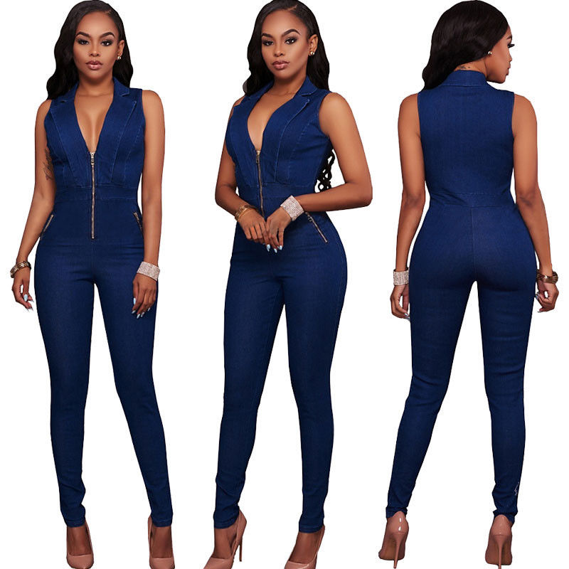 Fashion Summer Women V-neck Bodycon Jumpsuit Romper Long Trousers - Style Lavish