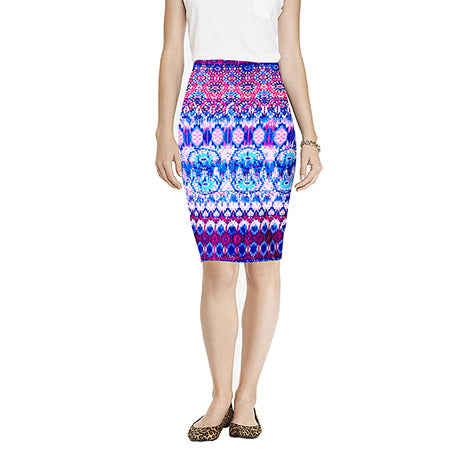 Fashion Summer Women's Pencil Skirt  High Waist Floral Printing Midi Skirt  Saia Women  Casual Skirt 204 - Style Lavish