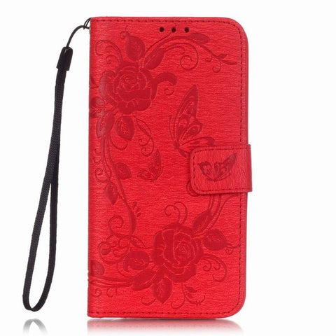 For Samsung Galaxy J5 2017 Case Leather Wallet Flip Phone Case Samsung Galaxy J5 6 2016 2017 Case Diamond Cute Butterfly