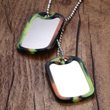 Stainless Steel Double Dog Tag Necklace Pendant ID Men Jewelry 24