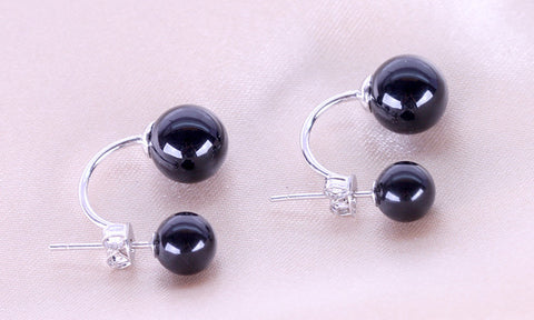 Silver Black Red  Earrings Lovely Fashion Jewelry For Women