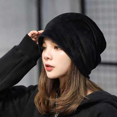 Solid Color Turban Hats for Women Beanies Autumn Winter Headdress Caps Casual Hip Hop Caps Skullies Bonnet Gorro