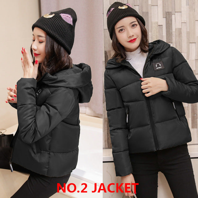 Autumn Winter Women Coat Fashion Down jacket Parkas Casual Jackets - Style Lavish