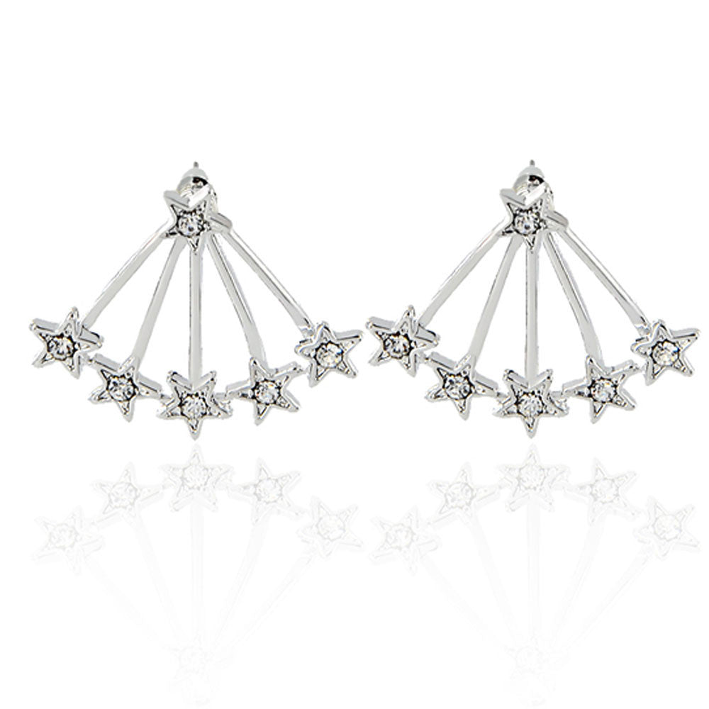 1 Pair Women New Popular Aloy Simple Star Stud Earring GD - Style Lavish
