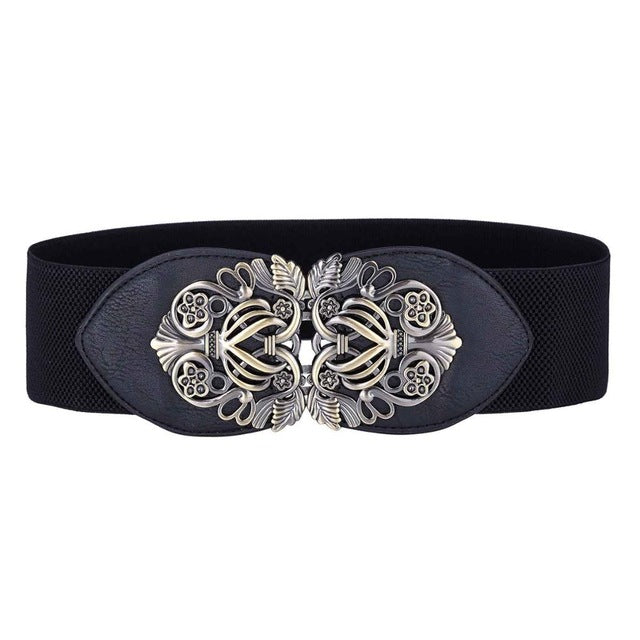 Ladies Elastic Belts Plus Size PU Leather Stretchy 2017 Metal Hook Waist Belt Waistband Designer Woman Belts for Women Dress