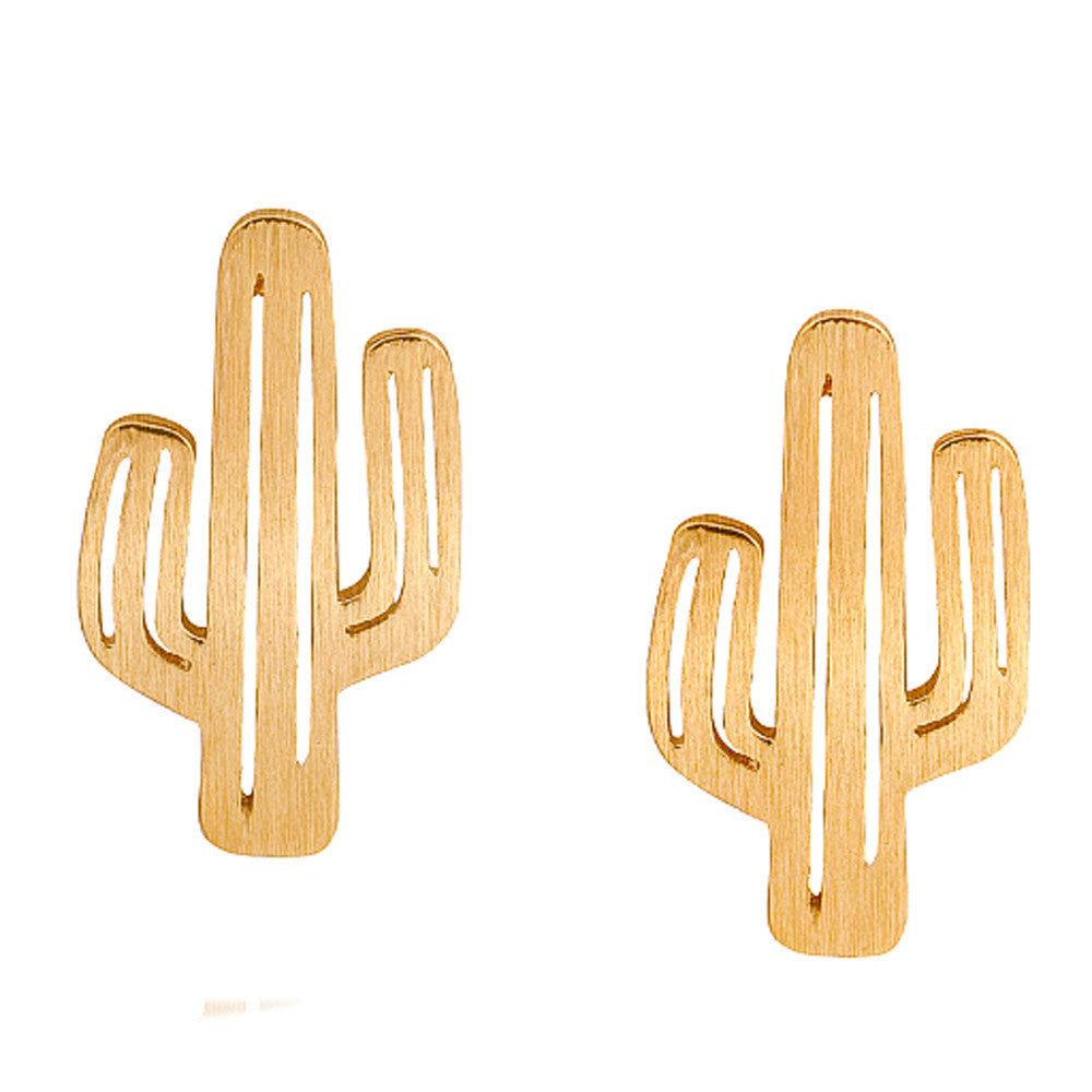 1 Pair Cactu Shape Ear Stud Creative Sweet Eardrop Fashion Jewelry Decoration - Style Lavish