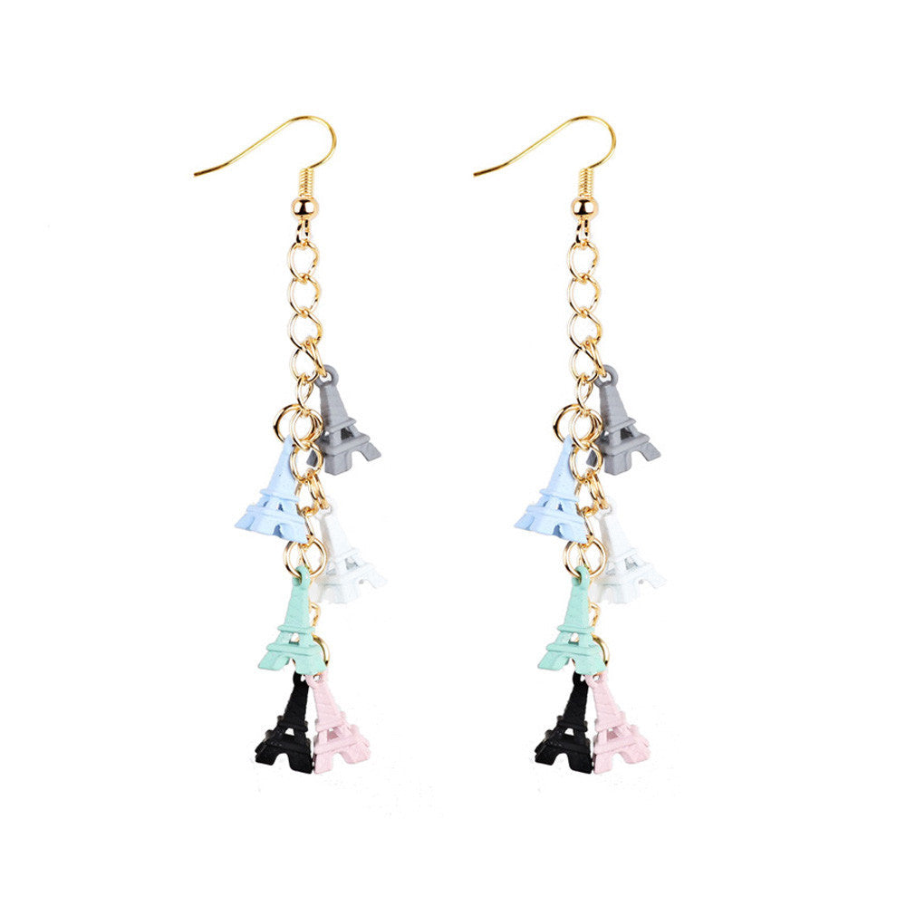 1 Pair New Fashion Women Dangle Earring Eiffel Tower Earrings Eardrop Hoops - Style Lavish