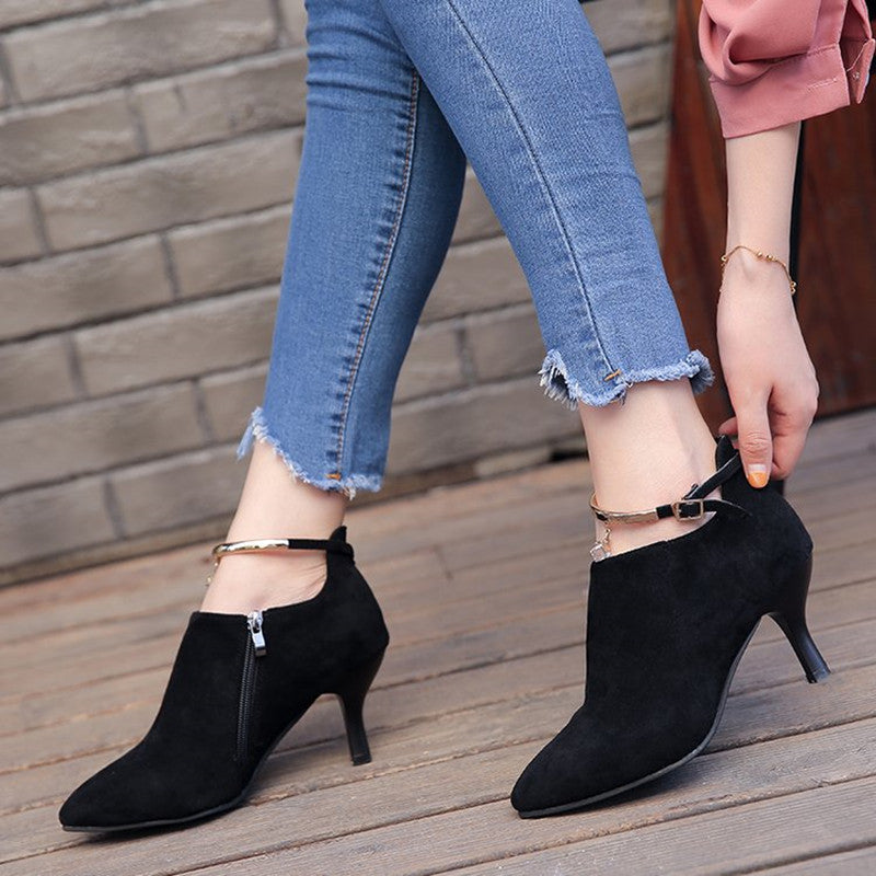 Women Shoes Fashion Suede Sexy High-heeled Boots