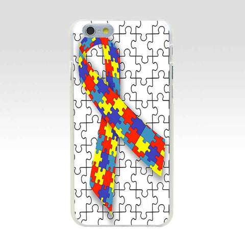 158GH Puzzle Autism Awareness Style Hard Transparent Painted Cover for iphone 4 4s 5 5s se 6 6s 8 plus 7 7 Plus X