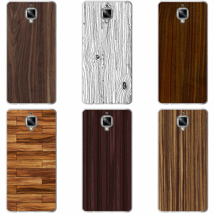 179GH Wood Grain Hard Transparent Cover Case for Oneplus 3 3T 5 - Style Lavish
