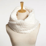 Women Faux Fur Circle Cable Cowl Neck Winter Warmer Long Scarf Shawl Wrap Soft Solid Ring Scarf